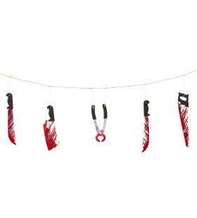 Halloween Juweel Slinger Met Bloederige Wapens 172cm