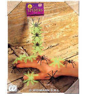 Zakje Met 6 Spinnen, Lichtgevend In Donker