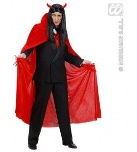 Rode Cape Fluweel 145cm Man Kostuum