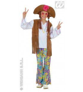 Hippie Meisje Woodstock Love And Peace Kostuum