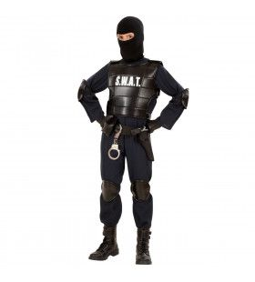 Officieel S.w.a.t Officier, Jongen Kostuum