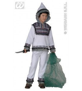 Eskimo Satijn, Jongen / Meisje Inuit Kostuum
