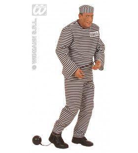Ontsnapte Gevangene Luxe Kostuum Man