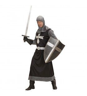 Ridder Donkere Strijder Kostuum Man