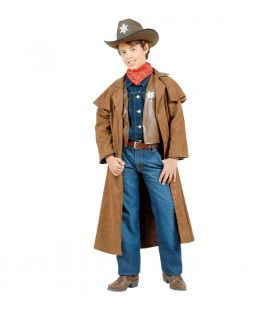 Cowboy Jongen, Suede Long John Kostuum