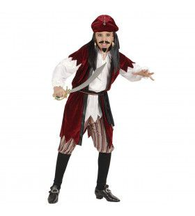 Carribean Piratenjongen Jack Sparrow Kostuum