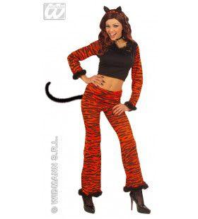 Tijger Dame Belly Tiger Kostuum Vrouw