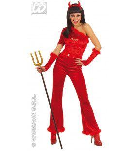 Duivelse Dame Fiberoptisch Lady Faust Kostuum Vrouw