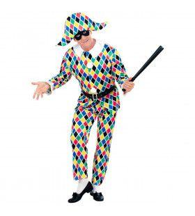 Kaleidoscoop Harlekijn Luxe Kostuum Man