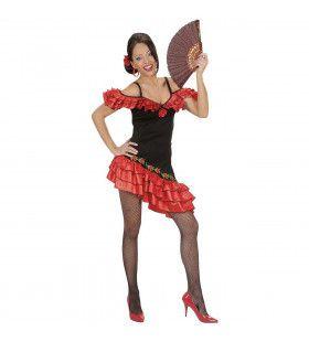 Senorita Hot Flamenco Danser Kostuum Vrouw