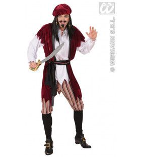 Carribische Piraat Jack Sparrow Kostuum Man
