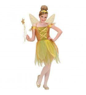 Pixie Gouden Woud Prises Spell Kostuum Meisje