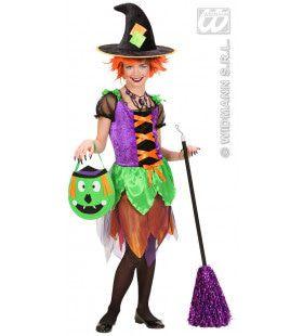 Heks Witch Of Colors Kostuum Meisje
