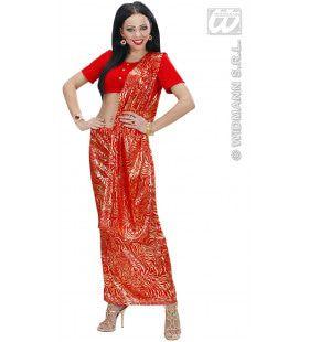 Bollywood Indiaanse Sari Kostuum Vrouw