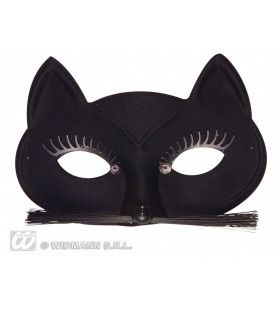 Oogmasker Zwarte Kat