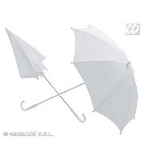 Paraplu Wit, 60cm Doorsnee
