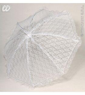 Kanten Paraplu, Wit