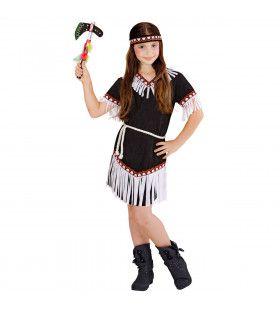 Hallaja Indiaans Meisje Zwart Kostuum