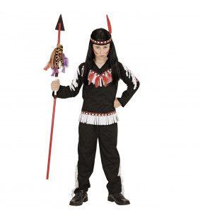 Muwakake Indiaanse Jongen Zwart Kostuum