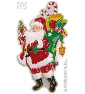 Wanddecoratie Kerstman Met Zak En Laurier