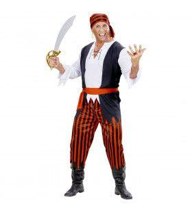 Caribische Piraat Blauwbaard Kostuum Man