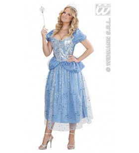 Prinses-Fee Blauw Blue Fairy Kostuum Vrouw