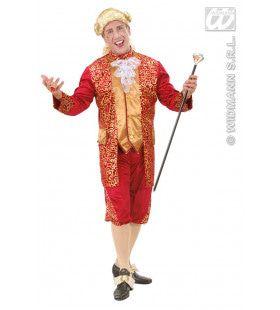 Markies Fluweel Bordeaux Rood Markies Beethoven Kostuum Man