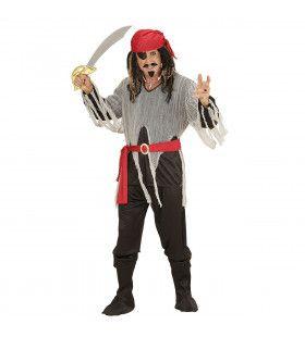 Vroeg Tijdperk Piratenheer Man Kostuum