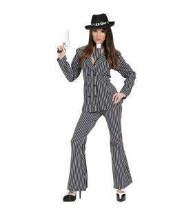 Vrouwelijke Gangster Ms Capone Kostuum