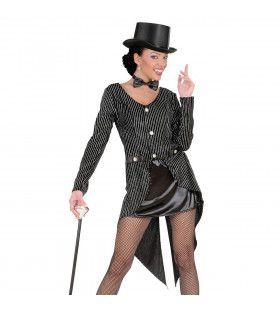 Frackjas Glitter Vrouw Moulin De Paris Kostuum