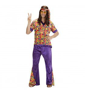 Hippie Dude Fluweel Mr Dude Kostuum Man
