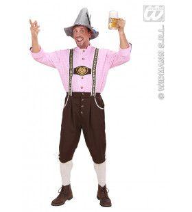 Olijke Duitse Lederhose Met Blouse Kostuum Man