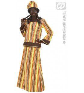 Afrikaanse Dame Mr Africa Kostuum Vrouw