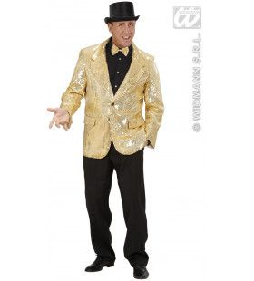 Pailleten Jas Goud Man Kostuum