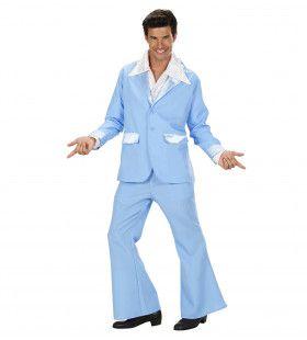 Kostuum Lichtblauw Man Kostuum