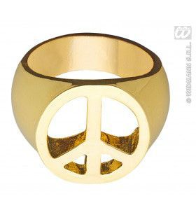 Peace And Love Ring Goud