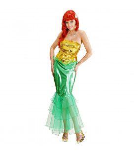 Zeemeermin Diep In De Zee Kostuum Vrouw