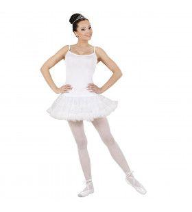 Klassieke Prima Ballarina Wit Kostuum Vrouw