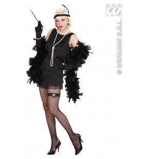 Luxe Flapper Zwart Lady 20s Kostuum Vrouw