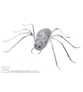 Glitter Spin Zilver14, 5cm