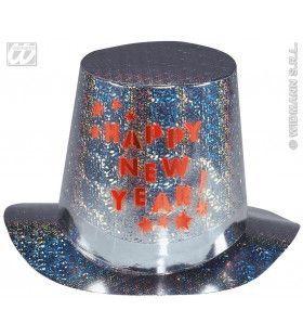 Hoge Hoed Met Flitslicht Happy New Year