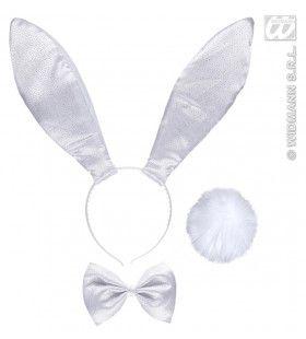 Verkleedset Bunny Glitter Wit