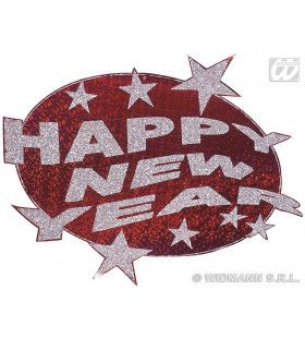 Happy New Year Laserdecoratie Rood