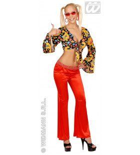 Damesbroek Stretch Seventies, Rood Vrouw