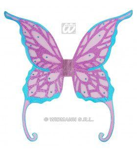 Fantasie Glitter Vleugels Met Gemsteentjes, Jumbo