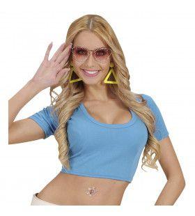 Katoenen Top, Blauw Vrouw