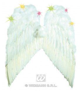 Engelenvleugel Veren Met Licht, Wit (55x48cm)
