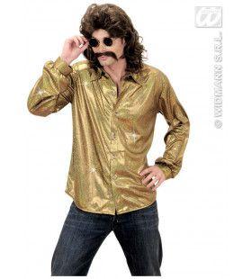 Holografisch Shirt, Goud XL