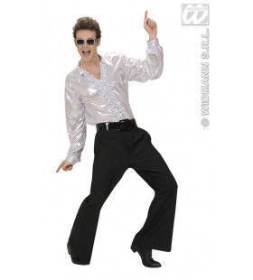 Rouchenblouse, Zilver XL Man Kostuum