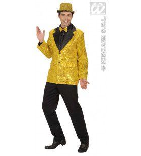 Pailletten Colbert, Goud XL Man Kostuum